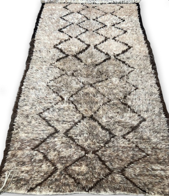 Beni Ourain Wool Rug 240 x 130 cm