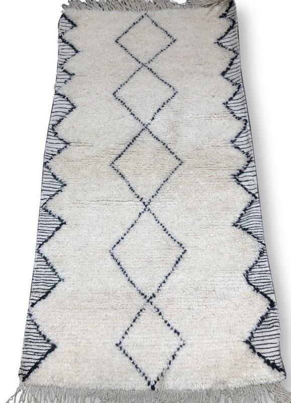 Handmade Beni Ourain rug 315 x 195 cm
