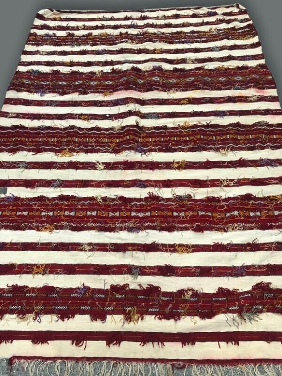 Handwoven Berber Handira Kilim Rug 218 x 150 cm