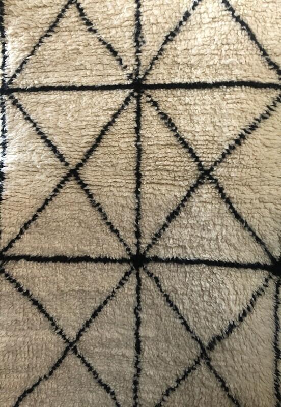 Handmade Beni Ourain Wool Runner