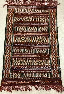 Handwoven Berber Handoura Kilim Rug