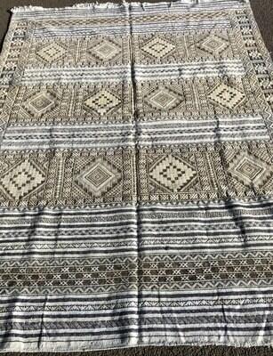 Handwoven Moroccan Berber Tiflet Tiffany Kilim Rug 300 x 230 cm