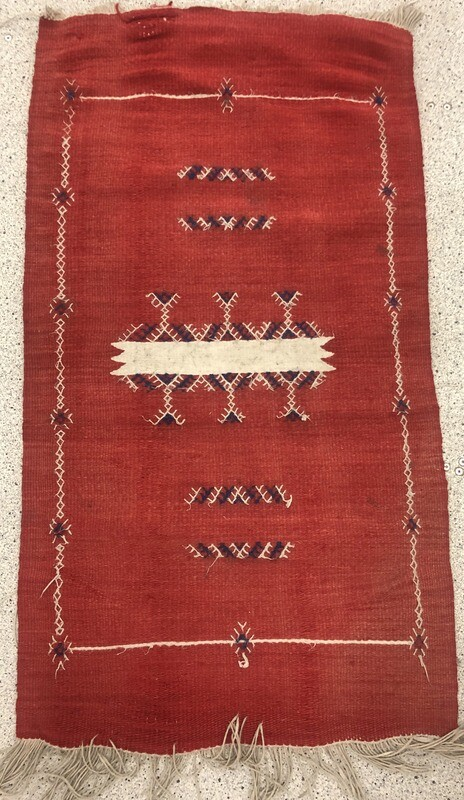 Handwoven Berber Boujaad Kilim Rug