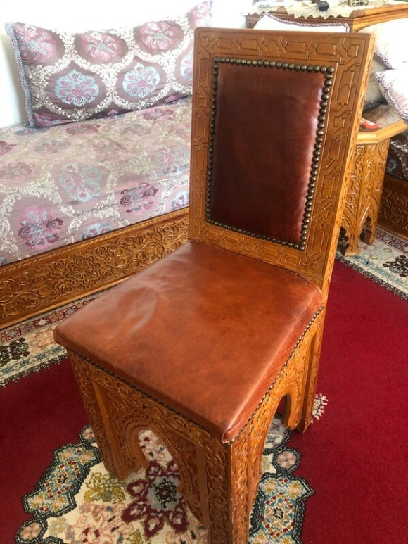 Moroccan Carved Chair