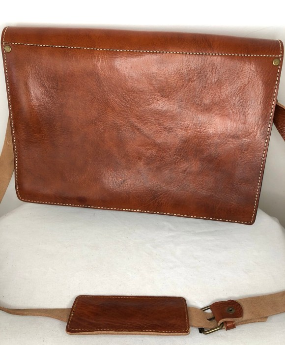 Tan Moroccan Leather Messenger Bag