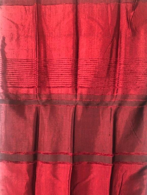 Handmade Moroccan Red Sabra Silk Scarf