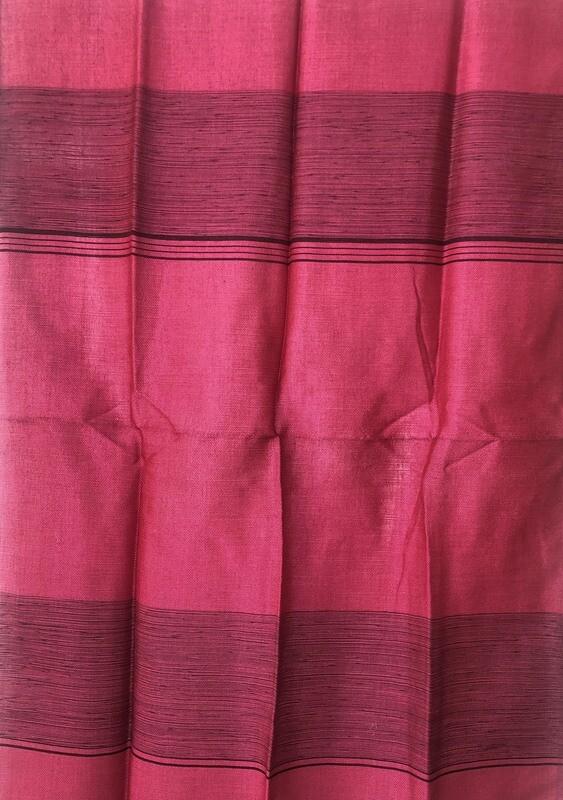 Handmade Moroccan Dark Pink Sabra Silk Scarf
