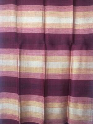 Handmade Moroccan Cranberry and Peach Striped Sabra Silk Scarf