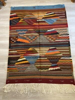 Handwoven Taznakht Berber Moroccan Rug 146 x 110cm