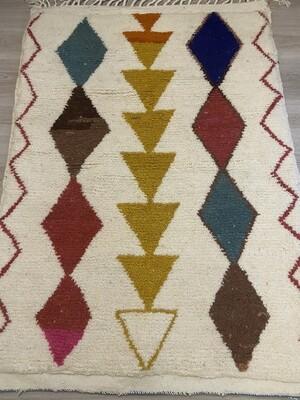 Handmade Azilal Moroccan Rug 145 x 105cm