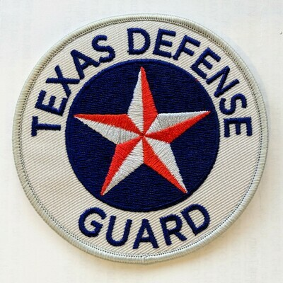 PRE-ORDER   2 TEXAS DEFENSE GUARD PATCHES (Hook and Loop Backing)