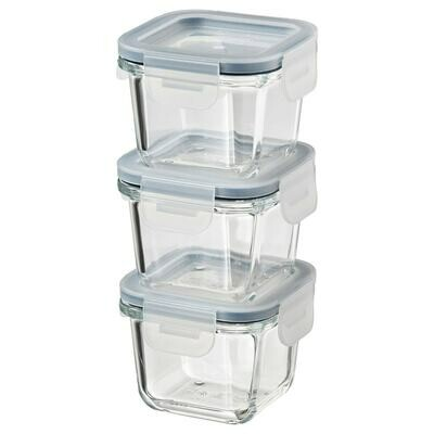 IKEA 365+ FOOD CONTAINER WITH PLASTIC LID 3S