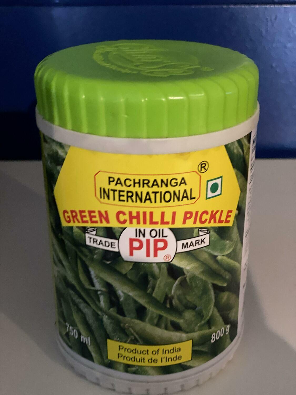 PACHRANGA INTERNATIONAL GREEN CHILLI PICKLE 800 GM