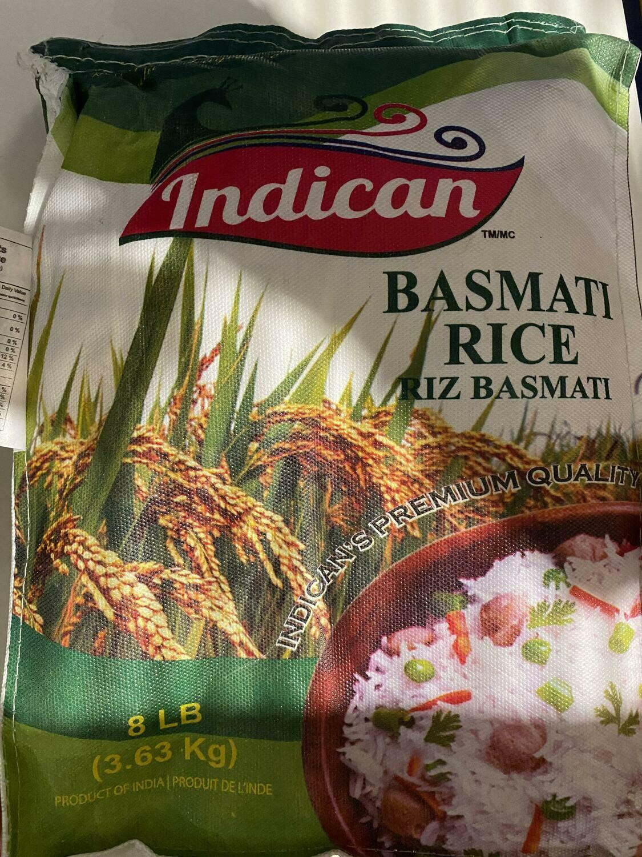 INDICAN BASMATI RICE 3.63 KG