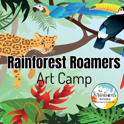 Rainforest Roamers Art Camp: July 19-21st