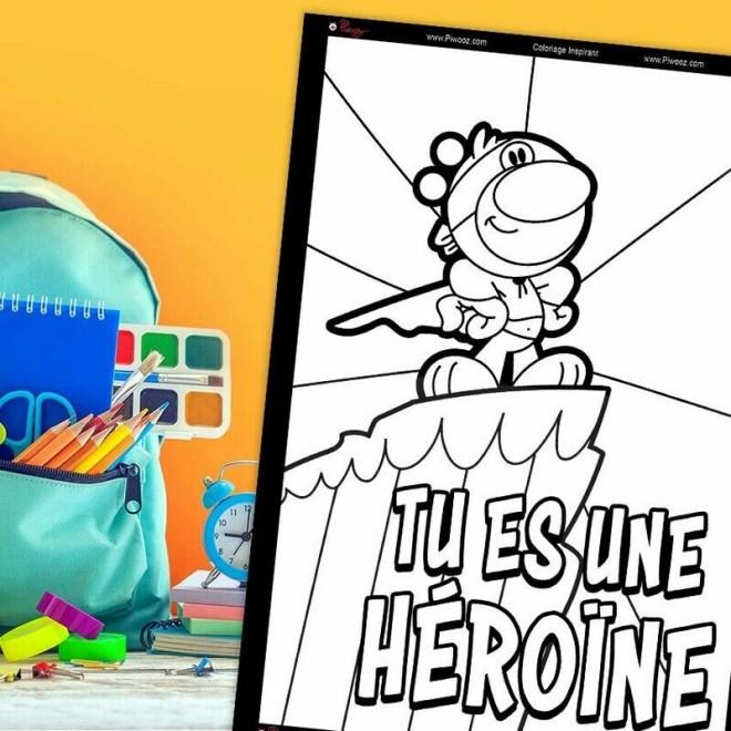 Coloriage Piwooz - Tu es un héroïne