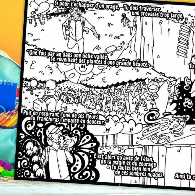 L'histoire à colorier Piwooz - Le brin aux portes bonheurs