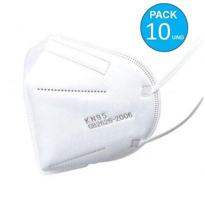 Pack x 10 Mascarillas KN95 Certificadas 5 capas