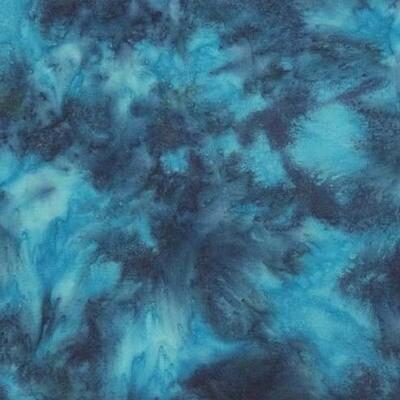 Turquoise Cotton Batik 3-Yard Precut 106