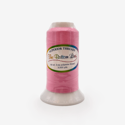 The Bottom Line Quilting Thread #605 Light Pink