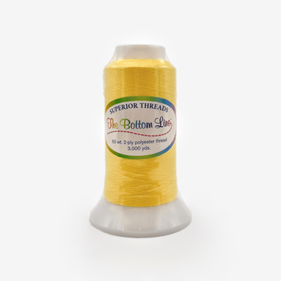 The Bottom Line Quilting Thread #601 Yellow