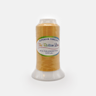 The Bottom Line Quilting Thread #602 Gold