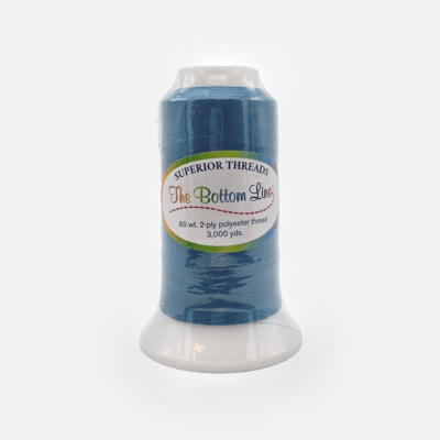 The Bottom Line Quilting Thread #611 Turquoise