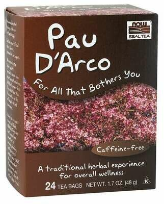 NOW Tea Pau D Arco 24ct