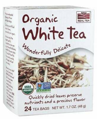 NOW Tea Organic White 24ct
