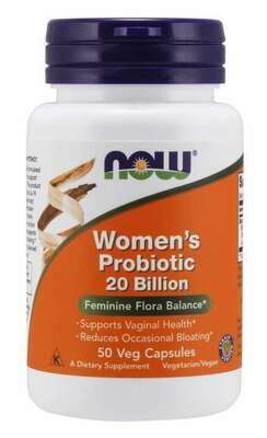 Now Women's Probiotic 20 Billion 50 Cap