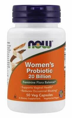 Now Women's Probiotic 20 Billion 50 Cap
