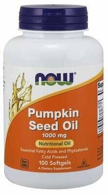 NOW Pumpkin Seed Oil 1000mg 100sgel