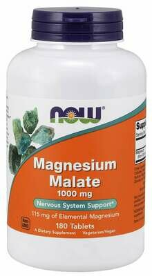 NOW Magnesium Malate 1000mg 180tab