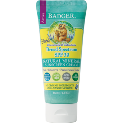 Badger Baby Sunscreen 30spf Mineral