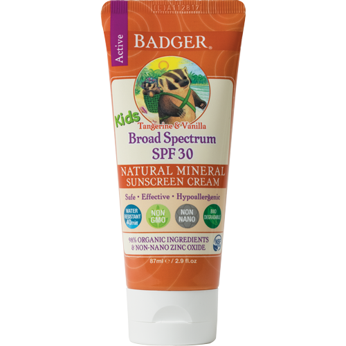 Badger Balm Kids Spf 30 Tangerine 2.9oz