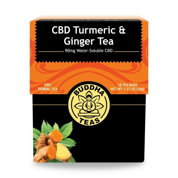 Buddha Tea CBD Turmeric Ginger 18ct