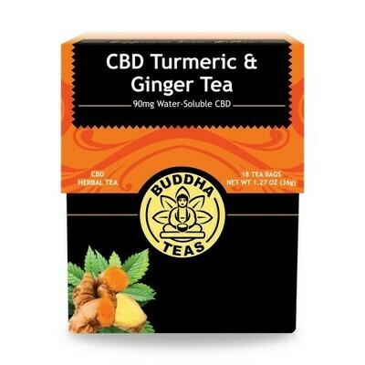 Buddha Tea CBD Turmeric Ginger 18ct