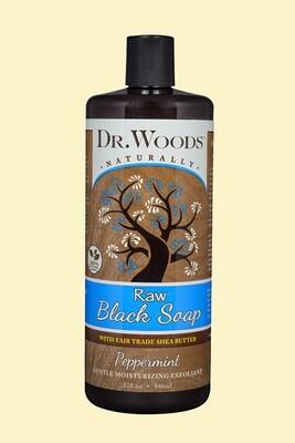 Dr. Woods Raw Black Soap 8 oz