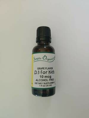 Simple Organics Kids D3 Grape 1oz