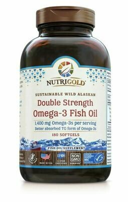 Nutrigold Double Strength Omega 3 180sgel