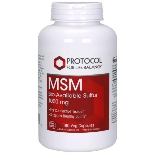 Protocol MSM Bioavailable Sulfur 1000 mg 180cap