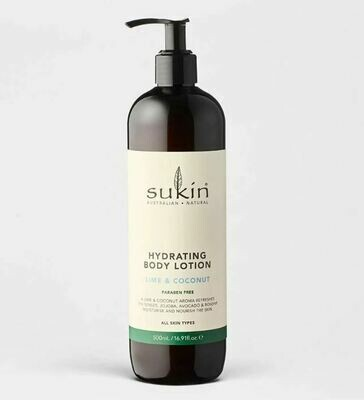 Sukin Body Lotion Lime Coconut