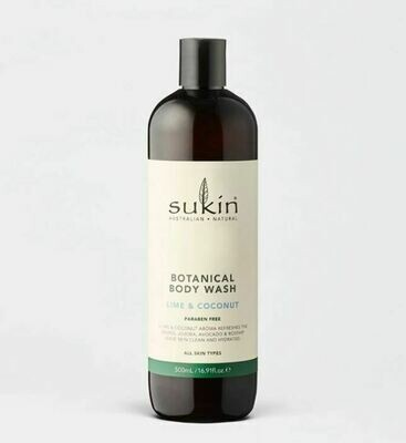 Sukin Body Wash Lime Coconut