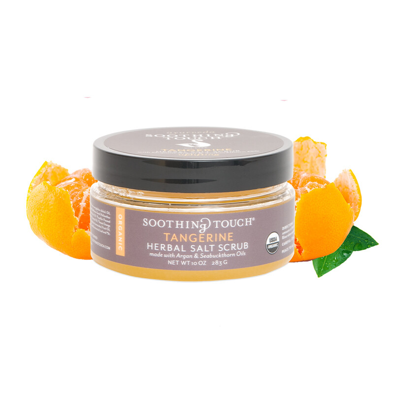 Soothing Touch Herbal Salt Scrub Tangerine 10oz