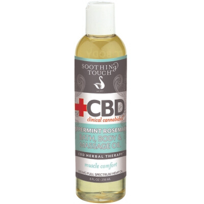 Soothing Touch CBD Bath Body Oil Peppermint