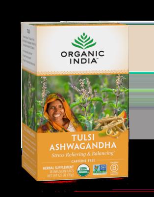 Organic India Tea Tulsi Ashwagandha 18ct