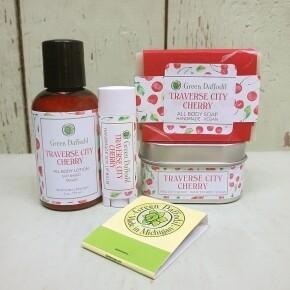 Green Daffodil Traverse City Cherry Lg Gift Set