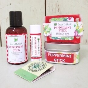 Green Daffodil Peppermint Stick Lg Gift Holiday Set