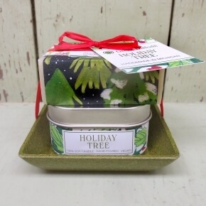 Green Daffodil Holiday Tree Candle And Soap