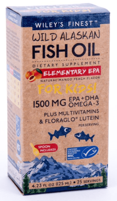 Wiley's Finest Elementary EPA Fish Oil For Kids